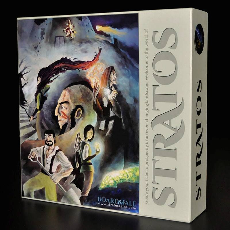 Stratos - Euro style board game with strategy RPG combat. For 2-5 players age 14+.