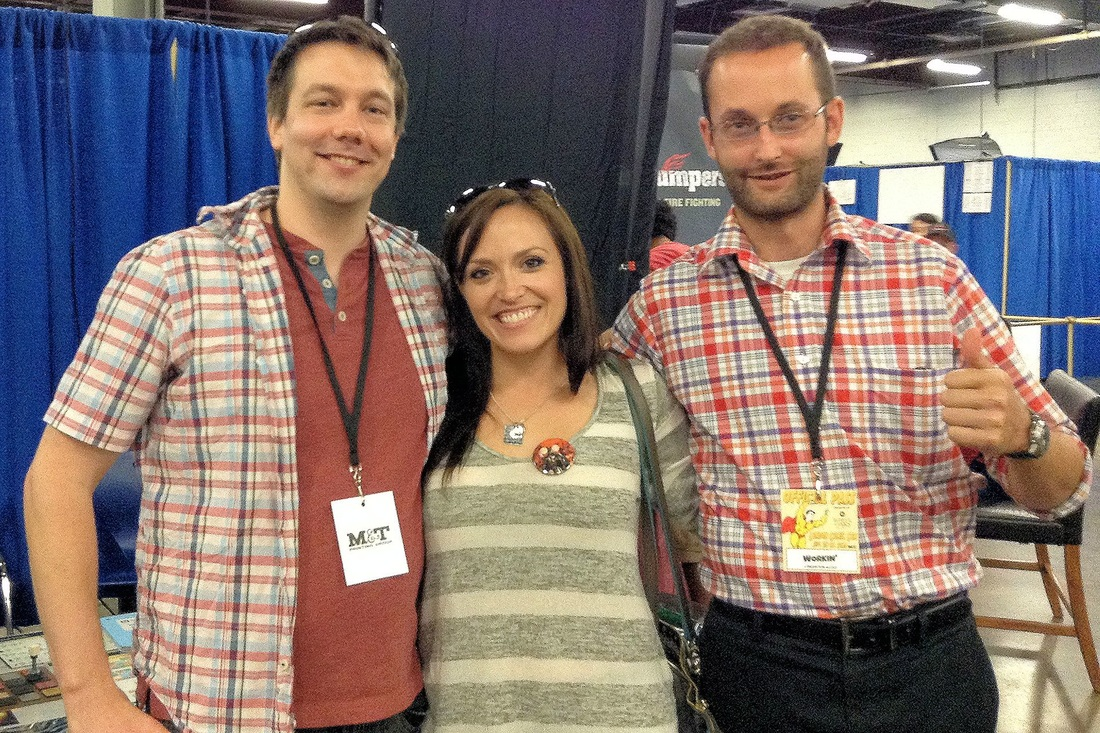 Jacob, K., and David at London Comic Con 2015. Image Credit: random bystander number 3651